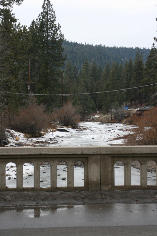 From Fanny Bridge, looking downstream. Tahoe City, CA, Jan 9 2015.
