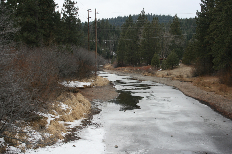 Downstream from the Lake Tahoe Dam, Jan 9, 2015.