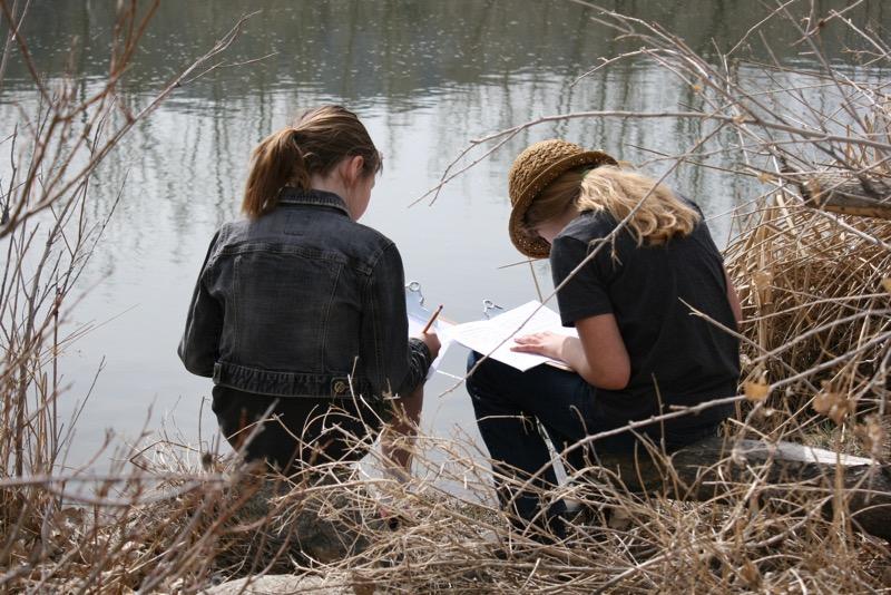 Students at work, McCarran Ranch. Mar 10, 2015.