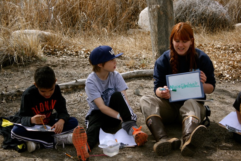 "Jennifer Robinson explains the term ""macroinvertebrate"". McCarran Ranch, Mar 10, 2015."