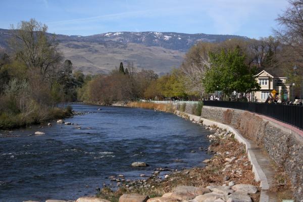 The race course for the Downtown River Run follows the Truckee River toward Verdi. April 12, 2015.