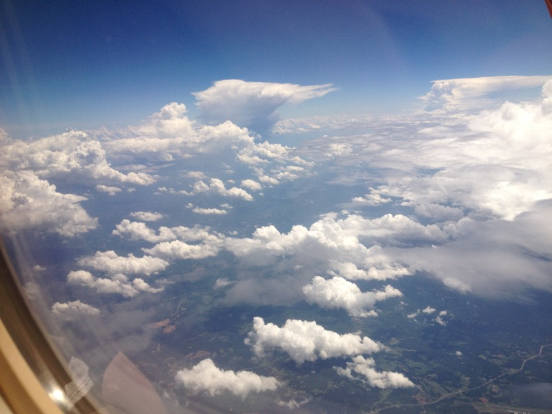 Clouds from the plane, somewhere over the middle of the US.