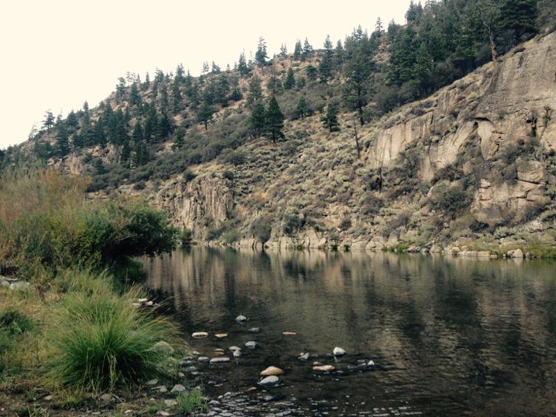 Looking downstream toward Fleish Dam, Oct 2, 2015.