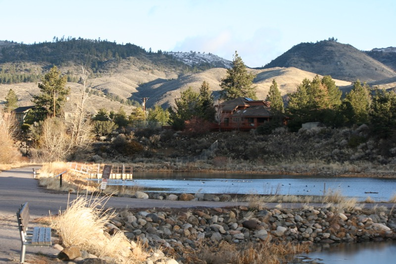 Fishing ponds at Crystal Peak Park, Dec 22, 2015.